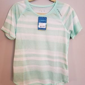 "NWT Brooks M ""Ghost"" Running Shirt Striped Green"